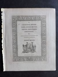 Henry Moses 1840's A Collection of Antique Vases Illus. Title Page